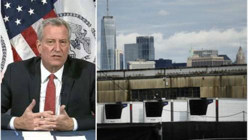 第一波疫情仍有650具遗体储存在冷冻车 纽约市长这样解释