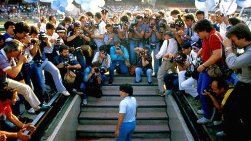 马拉多纳欧冠高光时刻,那不勒斯的神,C罗梅西也无法企及!