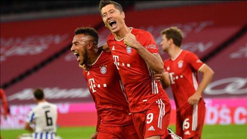 德甲-基米希传射莱万造3球,拜仁5-2逆转美因茨迎三连胜