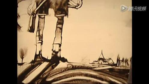 六一儿童节沙画、手绘《我们的童年》