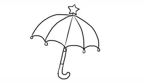 小雨伞幼儿卡通简笔画宝宝轻松学画画