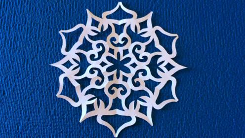 剪纸窗花教程,雪花图案剪纸艺术