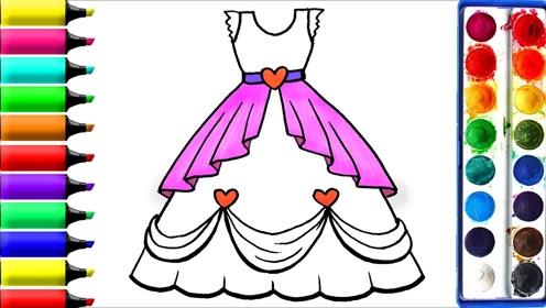 趣味简笔画:画漂亮公主裙