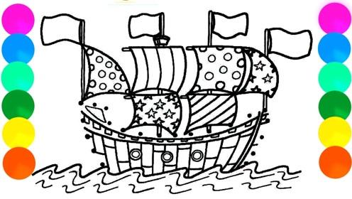 趣味简笔画:画漂亮帆船
