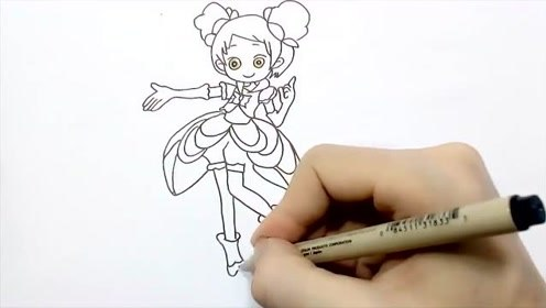儿童简笔画:非常漂亮的小花仙,画法原来很简单