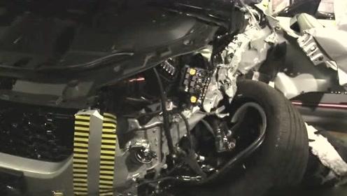 碰撞测试wey vv7国产汽车,首次公开重叠碰撞,提