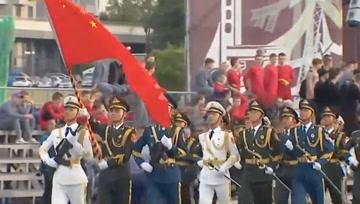 英姿飒爽!中国人民解放军仪仗大队亮相白俄罗斯