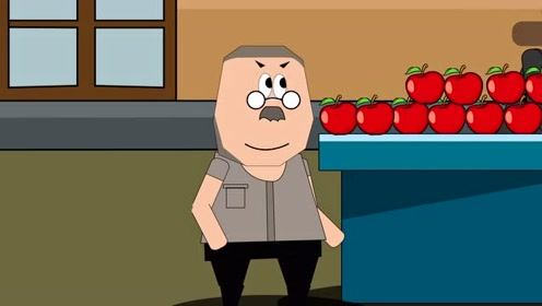 搞笑动漫:大叔偷水果,结果被机智的宝儿要了