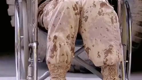 国外恶搞:兵哥哥假装残疾人,结果教官用鞭子
