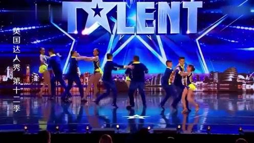 英国达人秀:萌娃跳拉丁舞,主持人观众全体起立为其鼓掌!