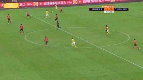 艾克森回归恒大后中超2019赛季运动战精彩左脚抽射破门!