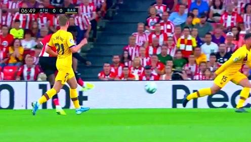 西甲经典 回顾联赛梅西缺阵苏牙伤退 巴萨遭阿杜里斯倒钩绝杀
