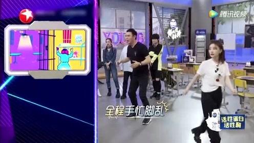钟镇涛和冯提莫的舞蹈还有互动,张信哲说舞蹈的难度是跟着年纪增加的