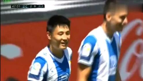 武磊进球获西甲MVP名场面