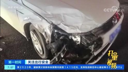 常德:小车左转弯未让直行车,两车猛烈相撞,受损严重