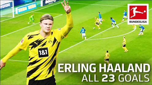 22场德甲打进23个球,哈兰德你是不是该年龄了,出道就巅峰