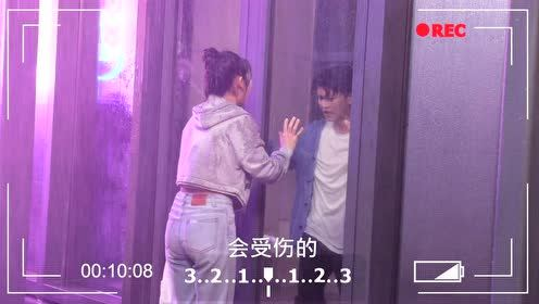 BTS: Gu Chuan breaks through the glass door   Miss Crow With Mr. Lizard