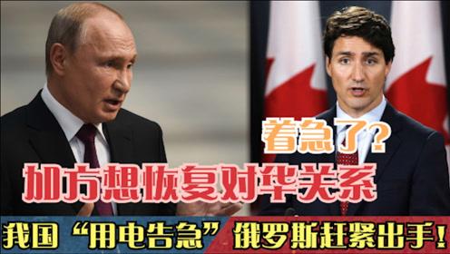 """加方想恢复对华关系?我国""""用电告急"""",俄罗"""