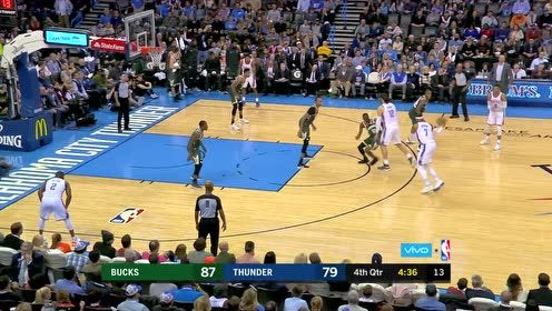 NBA经典回顾17-18赛季 这个掩护太漂亮安东尼三分中靶