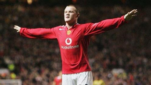 曼联现役球员谁比的了?16年前鲁尼首秀戴帽 踢的还是欧冠