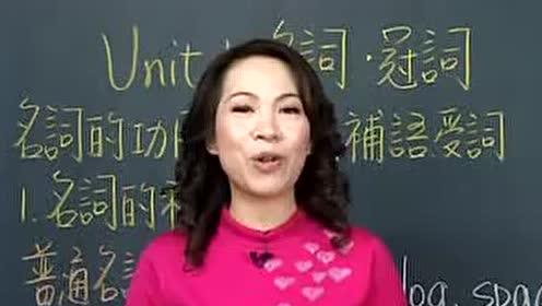 谢孟媛初级文法视频教程-英语提高_第1集