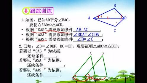 八年级数学上册第12章 全等三角形12.2 三角形全等的判定
