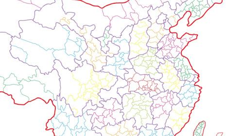 手绘中国地图详细到市级,看看你能找到你的家乡吗?