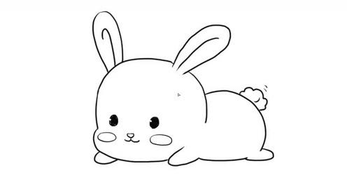 可爱的小兔子儿童亲子简笔画宝宝轻松学画画
