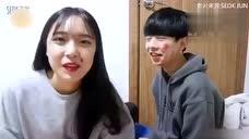 韩国情侣高甜度日常小游戏 真的是高甜 单身狗别