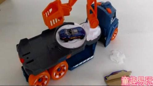 旋转的汽车总动员,巨无霸工程车赛车视频