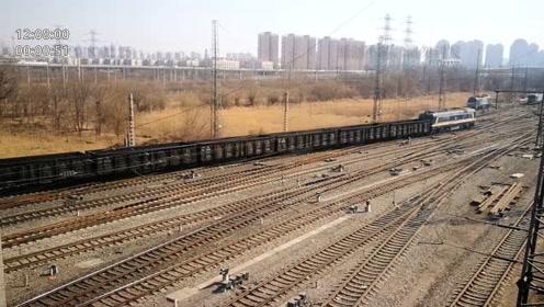 天津中环普济河道桥,桥下的南仓编组站,火车从车站发车起天津西站