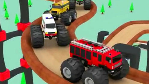 挖掘机视频表演大全 赛车总动员 汽车玩具视频之