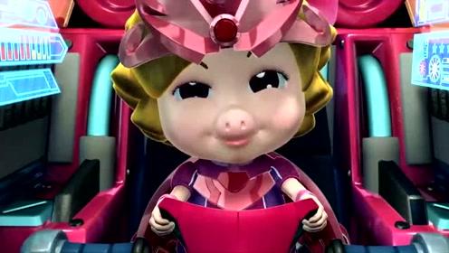 猪猪侠:小猪猪逗小菲菲开心,开着飞艇找白马王子,美滋滋!