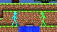 我的世界MC动画:小蓝遇到一块漂浮的基岩,没想到是只鲨鱼
