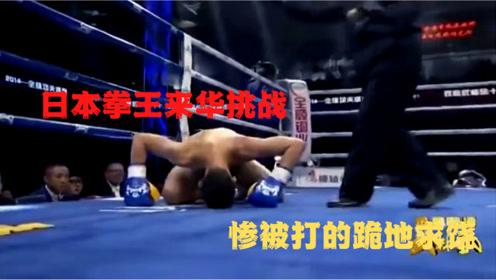 日本拳王闭关3年来华挑战,放狠话必KO方便,惨被打的跪地求饶