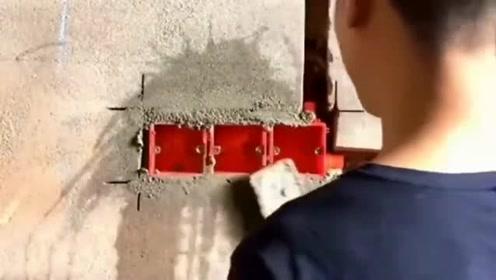 水电工具备的基本功,20年的老师傅,这样的手法没毛病!