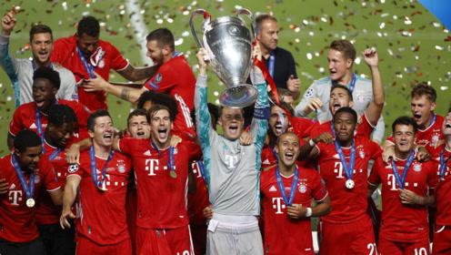 拜仁2020年欧冠夺冠之路:碾压巴萨轻取切尔西 险胜大巴黎登顶欧洲