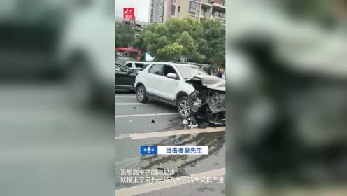 海报视频丨重庆一男子穿着睡衣偷开路边小汽车 刚驶出两米就撞了