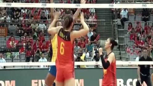 女排大奖赛,龚翔宇的这几个球真精彩,巴西队瞬间绝望了!