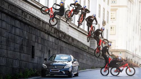 眼看就要追尾奔驰跑车,自行车如何化险为夷?天下武功唯快不破!