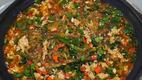 砂锅粉条这样做, 是饭又是菜, 开胃好吃,鲜香嫩滑, 上桌就空盘