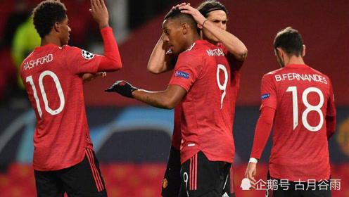 欧冠,曼联主场5-0横扫莱比锡,拉什福德帽子戏法