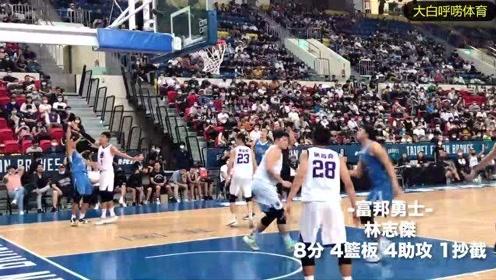 CBA退役后,野兽林志杰在台湾打联赛