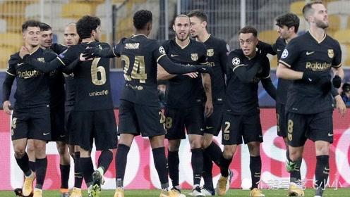 欧冠 提前出线 布莱维斯特双响 格列兹曼破门 巴萨4-0基辅迪纳摩