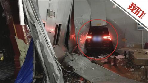 警惕!汽车定速巡航120km/h冲进服务区 行车记录仪拍下惊险画面