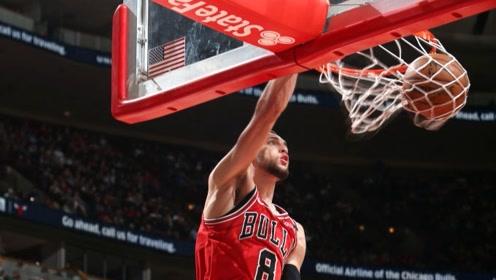 【原声】19日NBA十佳球 罗斯反手炸筐拉文快攻折叠背身暴扣