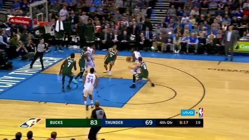 NBA经典回顾17-18赛季 格兰特单臂暴扣虐筐