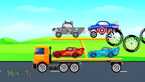 奇趣蛋玩具汽车总动员大卡车小游戏视频
