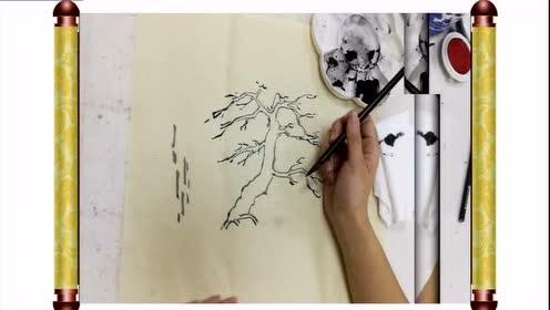 人教版五年级美术下册第11课 学画松树