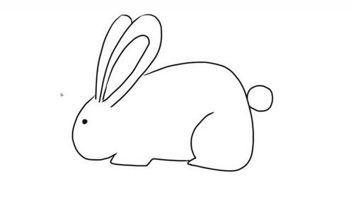 简单可爱的小白兔儿童亲子简笔画 宝宝轻松学画画